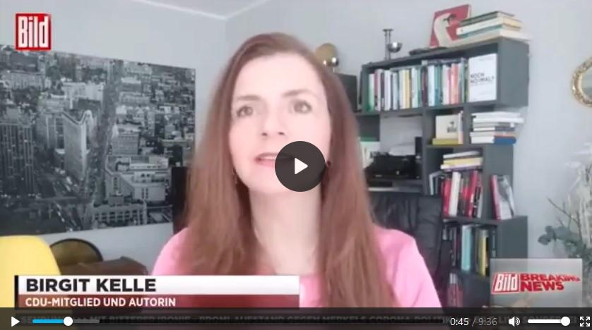 VIDEO: Interview Birgit Kelle bei BILD TV zu #allesdichtmachen